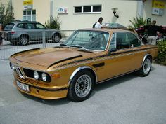 An E9 BMW 3.0 CSL in a very unusual, but original Ceylon color