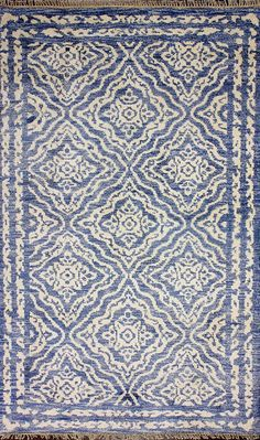 Stormy Sky Hand Knotted Rug Grey 8x10