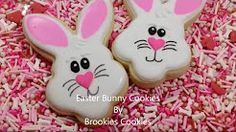 EASTER BUNNY COOKIE DECORATING TUTORIAL. - YouTube