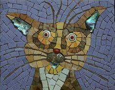 Skinny Cat | Medium: Smalti, millefiori, Vitreous Glass and … | Flickr