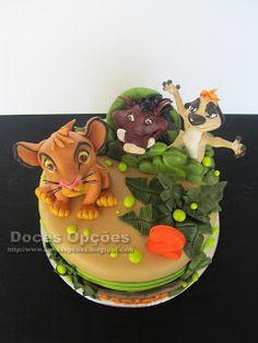 Doces Opções: Bolo de aniversário Rei Leão