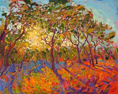 A new Crystal Light series original oil painting for art collecting, by artist Erin Hanson.