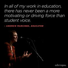 There is so much power in student voice.
