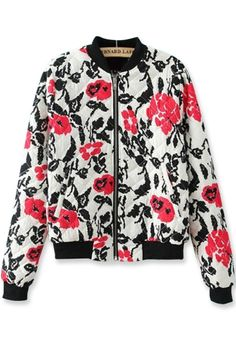 Lovely Floral Quilting Jacket