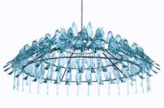 Bird Poop Chandelier by Wyatt Little. Bird poop never looked this nice. Little Designs, Glass Birds, Print Wrap, Inspired Homes, Bird Feathers, Blue Bird, Ceiling Lights, Inspiration, Home Decor