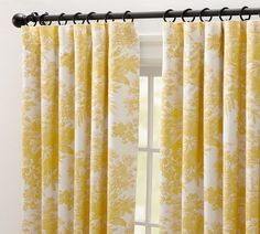Lovely Yellow Curtains From Pottery Barn! Perfect To Spruce Up A Neutral Room.