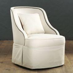 Chaffie Swivel Club Chair | Ballard Designs #celebrateballard