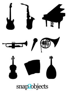 MUSIC STORE: Use these free instrument silhouettes to make a super simple bingo board for your youngest children to play instrument hunt while you're in the music store.