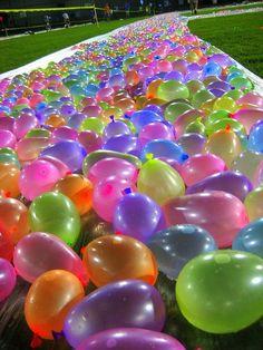 Water balloon slip and slide! by jasmine