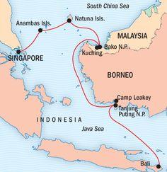 World map indonesia detail borobudur borneo komodo dragon and borneo adventure travel bali expedition lindblad expeditions gumiabroncs Choice Image
