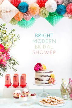 Bright, modern bridal shower inspiration with Crate and Barrel