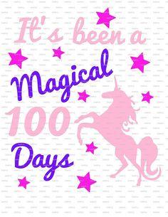 DIY 100 days of school tshirt Unicorn Magical 100 days of School shirt project  vinyl decal iron on