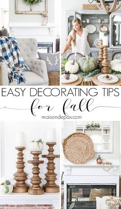 Fall Decorating Tips: Easy fall decorating ideas to make your home cozy for fall the EASY way!