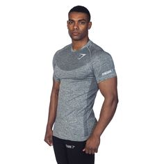 GymShark Fit Seamless T-Shirt - Mineral T-shirts | GymShark International | Innovation In Fitness Wear