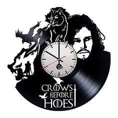 Game of Thrones HANDMADE vinyl record modern vintage unique wall clock gift art Vinyl Record Art, Record Clock, Vinyl Art, Vinyl Records, Record Wall, Wall Clock Gift, Pumpkin Carving Patterns, Vintage Records, Unique Wall Clocks