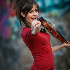 Lindsay stirling....to see her play in person one day!! Please! She's my total musical role model!!! <3