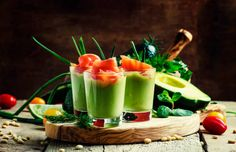 appetizer with smoked salmon and avocado mousse