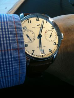"""my beautiful IWC """"Portuguaise"""" Automatic that my baby gave me for my Bday"""