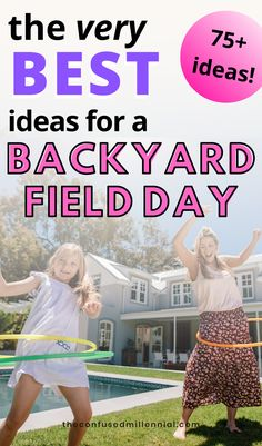 Whether you're planning field day activities to do at school or at home, these field day games are easy and fun for kids of all ages from elementary to high school! Play them while the family is home together during quarantine! 75 Eco-Friendly Cheap Ideas For A Fun Backyard Field Day This Weekend, free and cheap weekend fun for adults and kids during a no spend weekend, everything motherhood and parenting to keep kids entertained during summer Field Day Activities, Field Day Games, Activities For Adults, School Play, High School, Unique Date Ideas, Fun Backyard, Parenting Styles, Weekend Fun