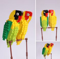 Ornithological LEGO master Tom Poulsom has followed up his wonderful British bird series with a new set of tropical birds featuring macaws, hummingbirds, finches and more. Poulsom says he's well on his way in gaining enough support on the LEGO CUUSOO site to turn some of these birds i