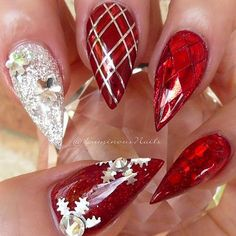 Best Acrylic Christmas Nails - 71 Acrylic Christmas Nail Designs - Best Nail Art