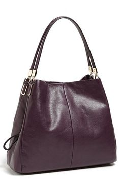 My next bag only large -chestnut  COACH 'Madison - Small Phoebe' Leather Shoulder Bag available at #Nordstrom