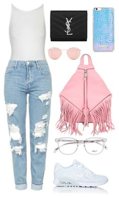 """Untitled #204"" by fweakydarcy on Polyvore featuring Topshop, NIKE, Rebecca Minkoff, Ray-Ban and Yves Saint Laurent"