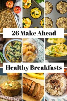 26 Healthy Make Ahead Breakfasts For Busy Mornings - Slender Kitchen. Works for