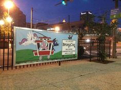 Nighttime views of the BronyCon 2014 Advertisements in Baltimore.