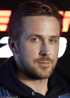 Doing a Blade Runner: The La La Land star studiously avoids shaving off his trademark fuzz...
