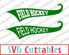 Field Hockey Text Tails, SVG, EPS, DXF, Set of 2 Field Hockey vectors, Digital Cut File by SVGCUTTABLES on Etsy