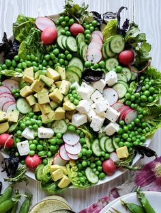 All the freshness of spring, this salad is the meal or side of your brunch and weekday meals. The Mint Lemon Vinaigrette is the only one you'll need all season! #springvegetables #springsalad #mintvinaigrette Easy Salad Recipes, Salad Dressing Recipes, Little Gem Lettuce, Watermelon Cake, Main Dish Salads, Lemon Vinaigrette, Pea Salad, Stone Fruit, Lime Chicken