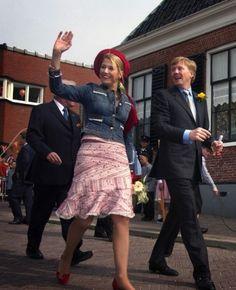 30 april 2004 - Warffum en Groningen - Máxima op Koningsdag - Nieuws - Fashion