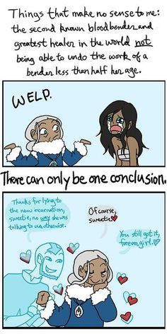 There can only be one conclusion as to why Katara couldn't return Korra's bending