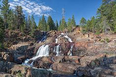 Glen Alpine Springs is one of the more popular short hikes near South Lake Tahoe. It starts at Fallen Leaf Lake and is an easy two mile hike past waterfalls and small lakes.