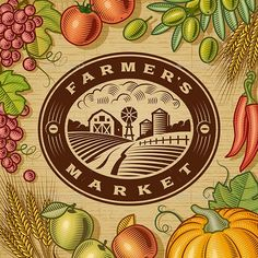 Buy Vintage Farmers Market Label Black And White by iatsun on GraphicRiver. Vintage Farmers Market label with fruits and vegetables in woodcut style. Black and white editable vector illustratio. Logos Vintage, Vintage Labels, Free Vector Images, Vector Free, Farmers Market Logo, Fruit Logo, Apple Harvest, Clip Art, Flowers For You