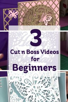 Change the way you make embellishments for your papercraft projects with the small but powerful Cut N Boss Machine. Watch these 3 helpful videos to get started!