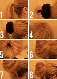 Hair tutorial - the better bun! Better than the sock bun. People always forget to mention that the sock bun does NOT work for layered hair! My Hairstyle, Pretty Hairstyles, Hairstyle Tutorials, Sock Bun Hairstyles, Bun Tutorials, Popular Hairstyles, Waitress Hairstyles For Long Hair, Updos For Thin Hair, Simple Hairstyles