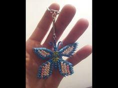 ORIGAMI 3D. Llavero mini mariposa, tutorial en español. - YouTube