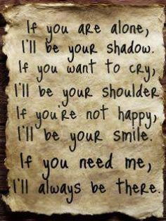 I'll be there for you.....