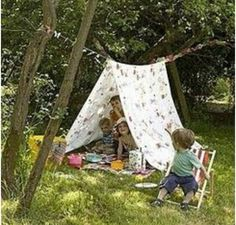 Who remembers putting a sheet over the clothesline and camping out in the back yard.