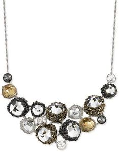 Swarovski Crystal Poison Frontal Necklace
