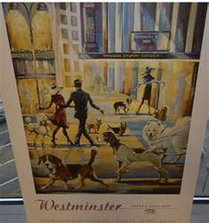 Westminster Dog Show Poster Westminster Dog Show, Bucket, Board, Dogs, Poster, Painting, Pet Dogs, Painting Art, Doggies