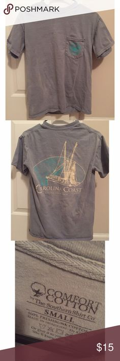 Southern Shirt Company Short Sleeve Southern Shirt Company Short Sleeve Shirt. Size S. Lightly worn. Some discoloration on the right side of the shirt. *NO TRADES* Southern Shirt Company Tops Tees - Short Sleeve