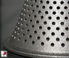 This is the same 3D printed part out of DMLS stainless steel - we just zoomed in.