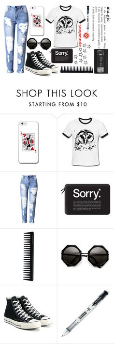 """Snapmade #6 Happy Days"" by fiona137 ❤ liked on Polyvore featuring Casetify, GHD, Converse and Paper Mate"