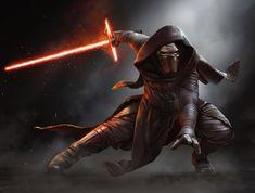 Star Wars The Force Awakens Kylo Ren Mural