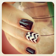 My chevron nails