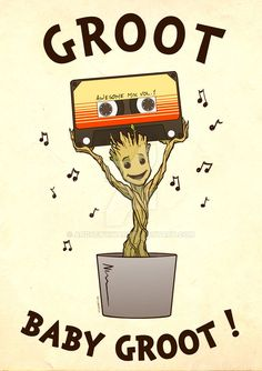 Groot Baby Groot! by AndrewKwan on DeviantArt