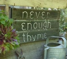 There's Never Enough Thyme...